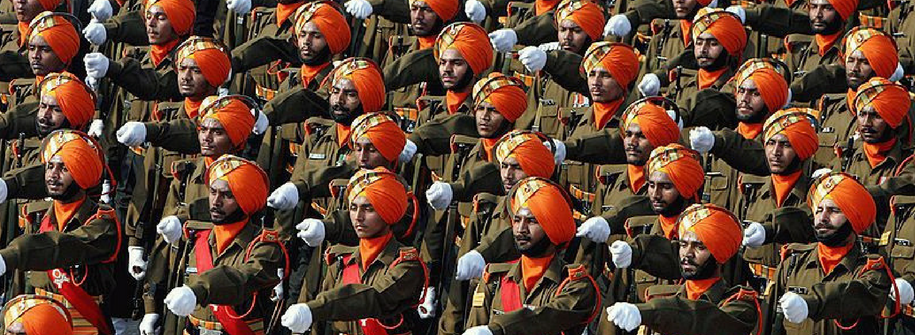 Republic Day of India - Indian Army Sikh Light Infantry Regiment