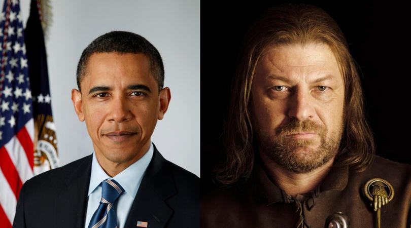 Barrack Obama as Eddard Stark
